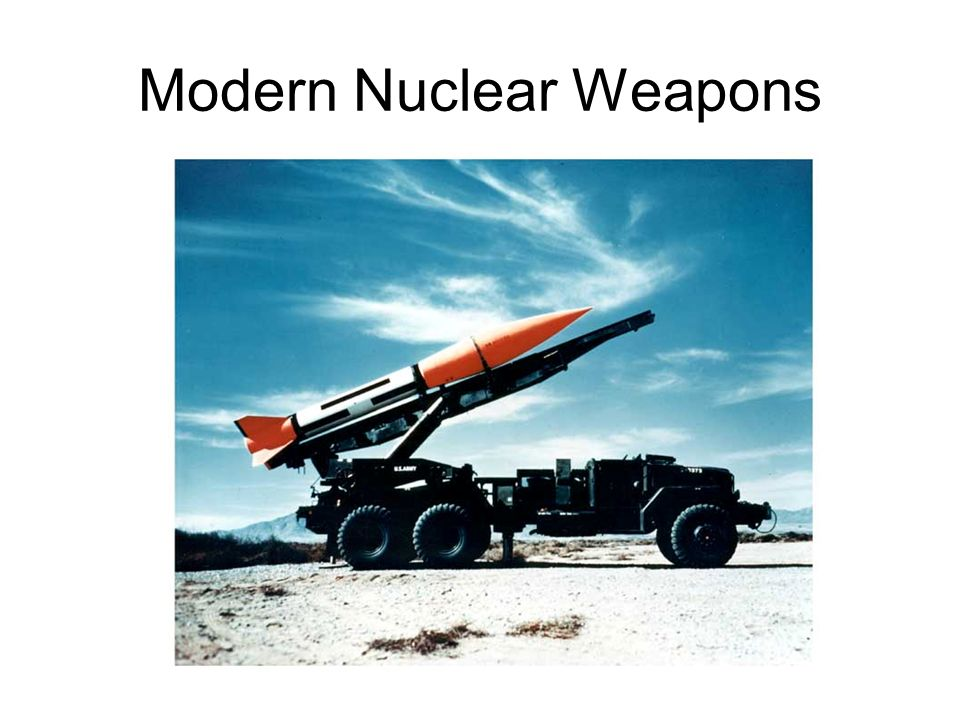 Modern Nuclear Weapons