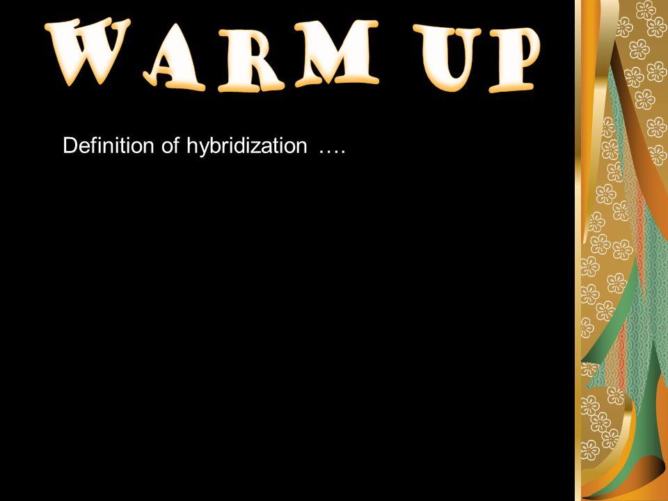 Definition of hybridization ….