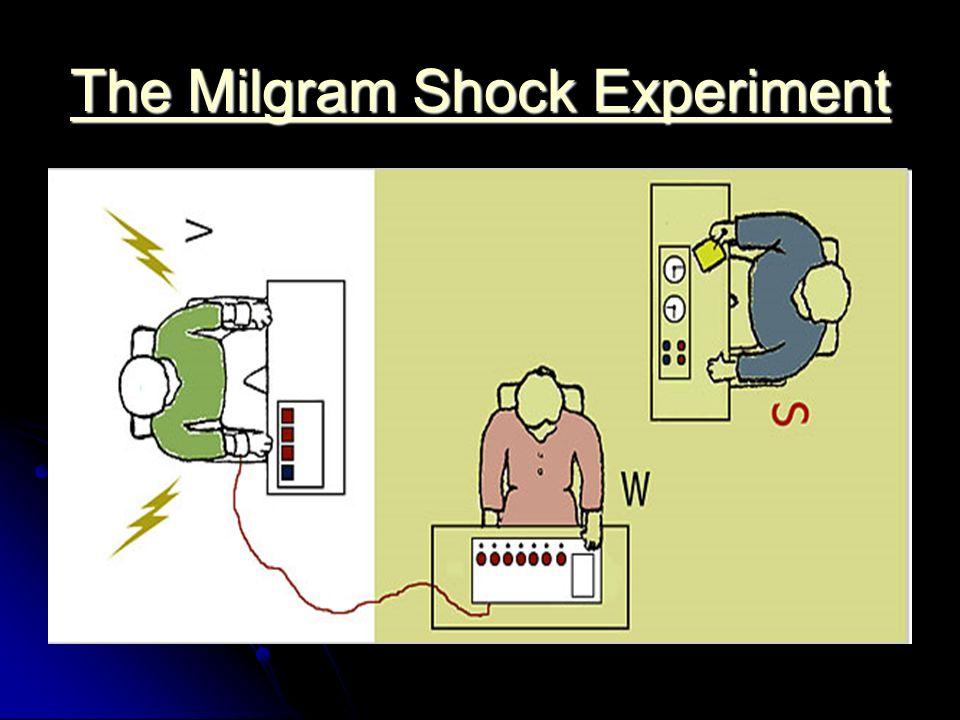 The Milgram Shock Experiment The Milgram Shock Experiment