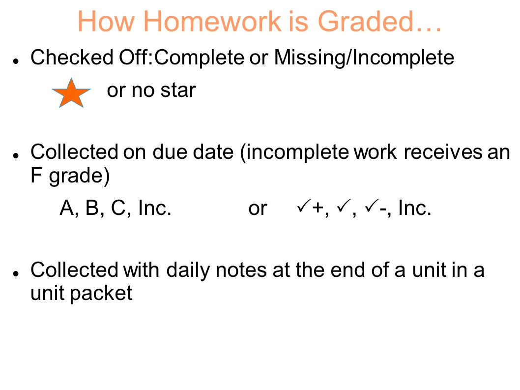 Homework Policy Homework is given to prepare you for the next days lesson and to review what we have learned in class. You will use your homework on p
