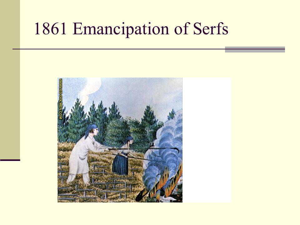 1861 Emancipation of Serfs