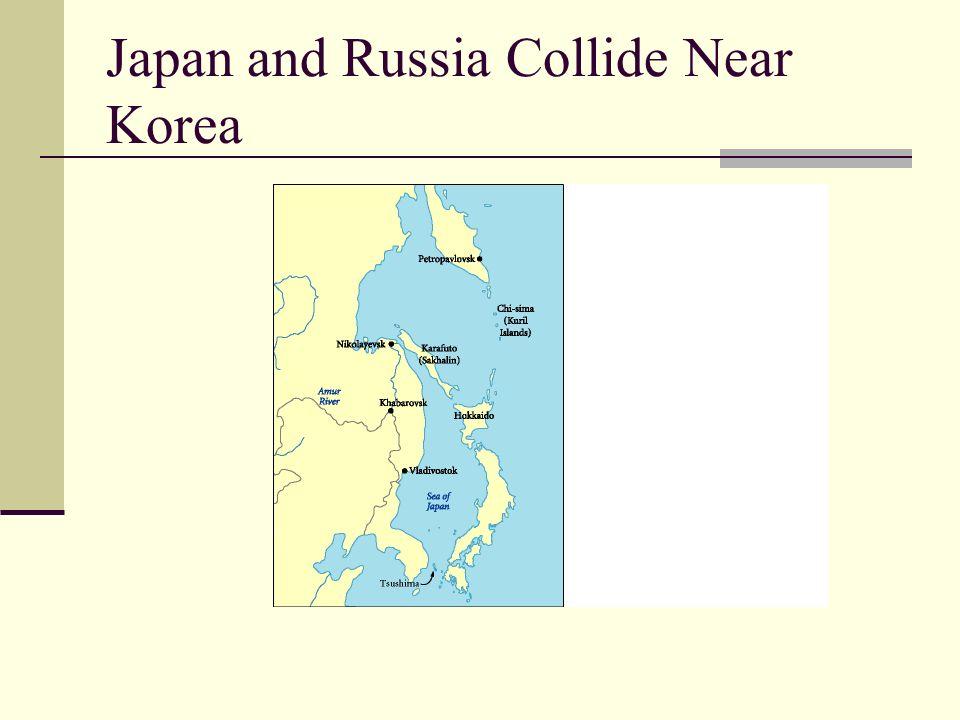 Japan and Russia Collide Near Korea