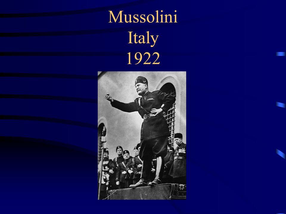 Mussolini Italy 1922