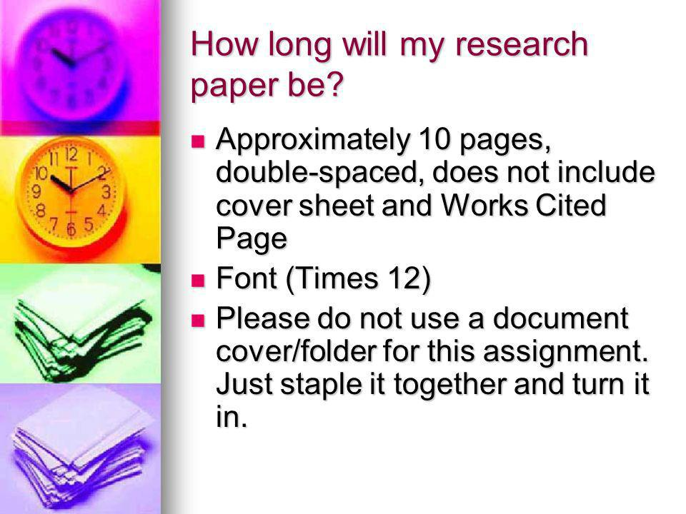 How do I organize a research paper.