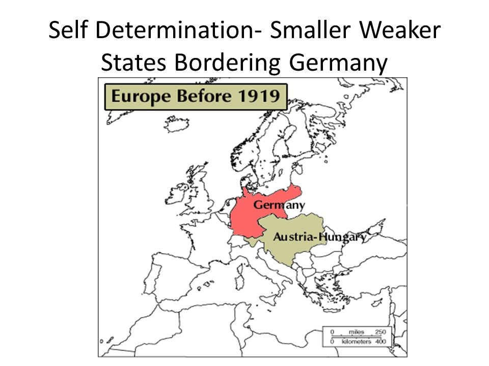 Self Determination- Smaller Weaker States Bordering Germany