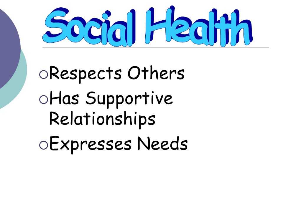 Respects Others Has Supportive Relationships Expresses Needs