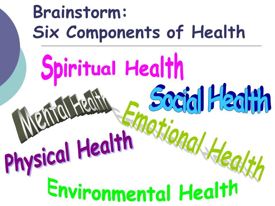 Brainstorm: Six Components of Health