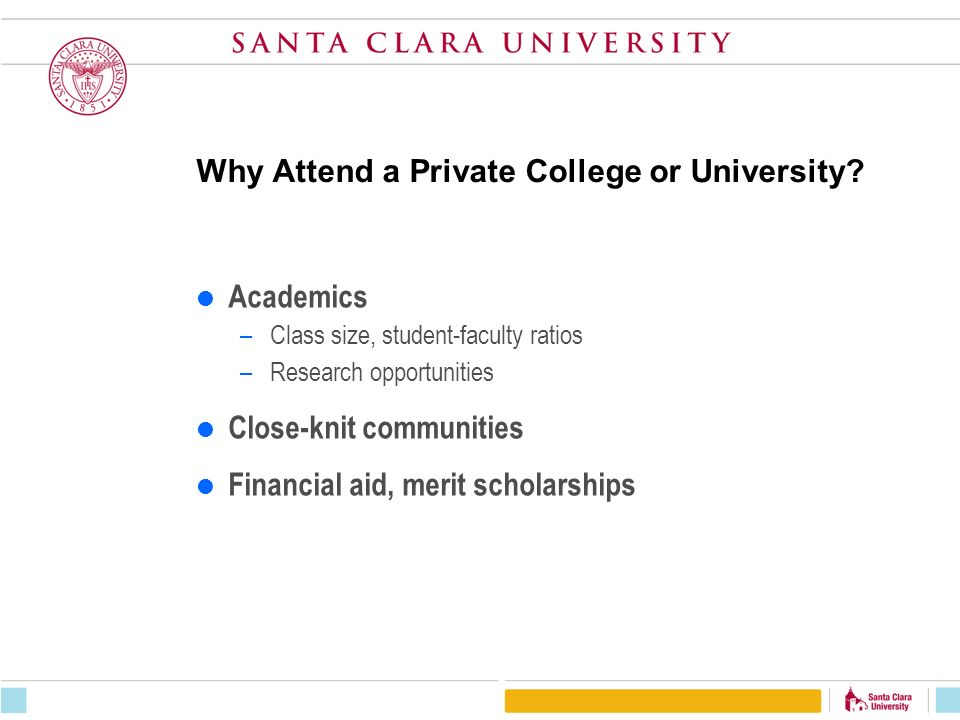 Why Attend a Private College or University.