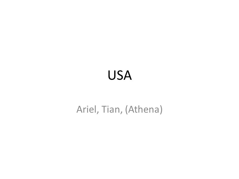 USA Ariel, Tian, (Athena)