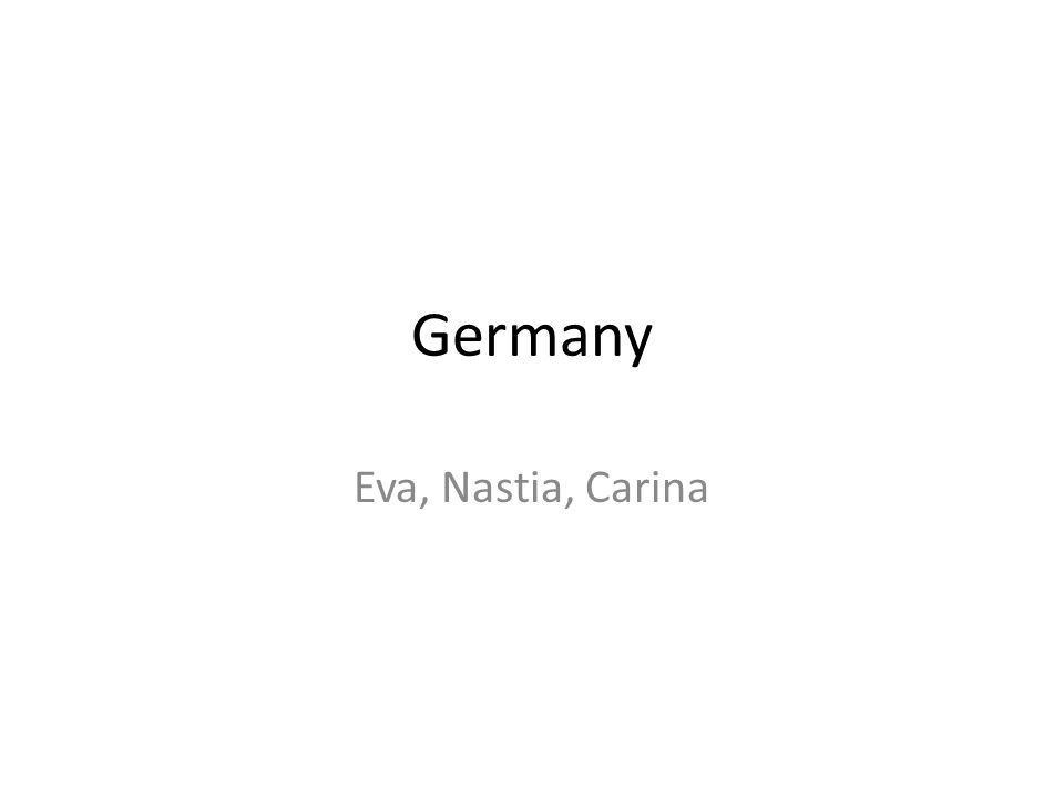 Germany Eva, Nastia, Carina