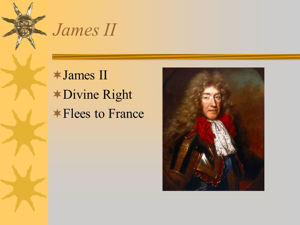 James II Divine Right Flees to France