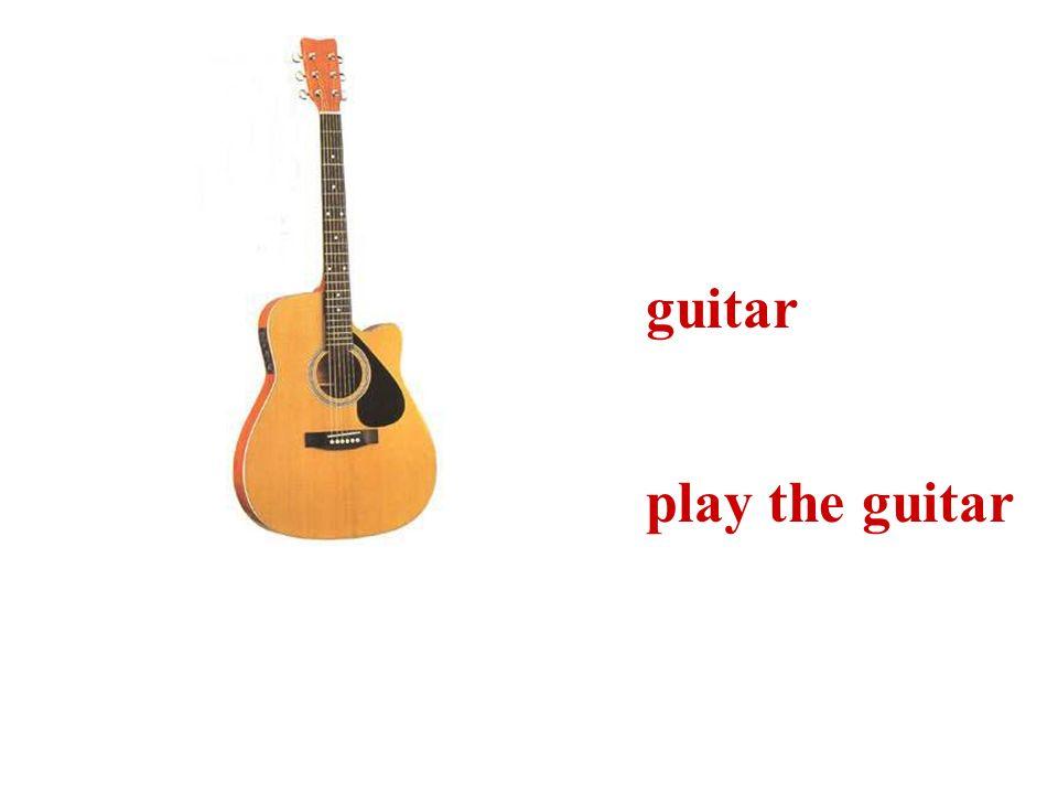 guitar play the guitar