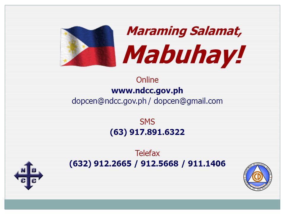 Maraming Salamat, Mabuhay.