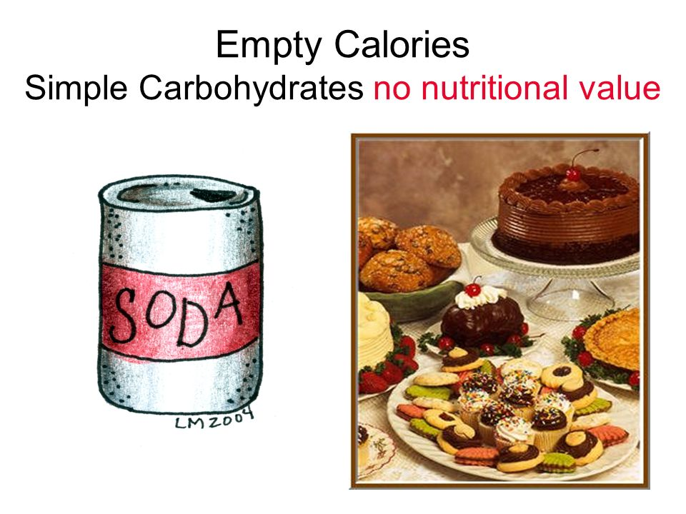 Empty Calories Simple Carbohydrates no nutritional value
