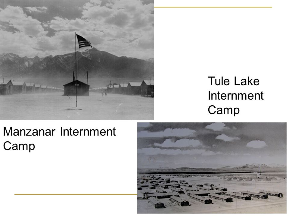 Manzanar Internment Camp Tule Lake Internment Camp