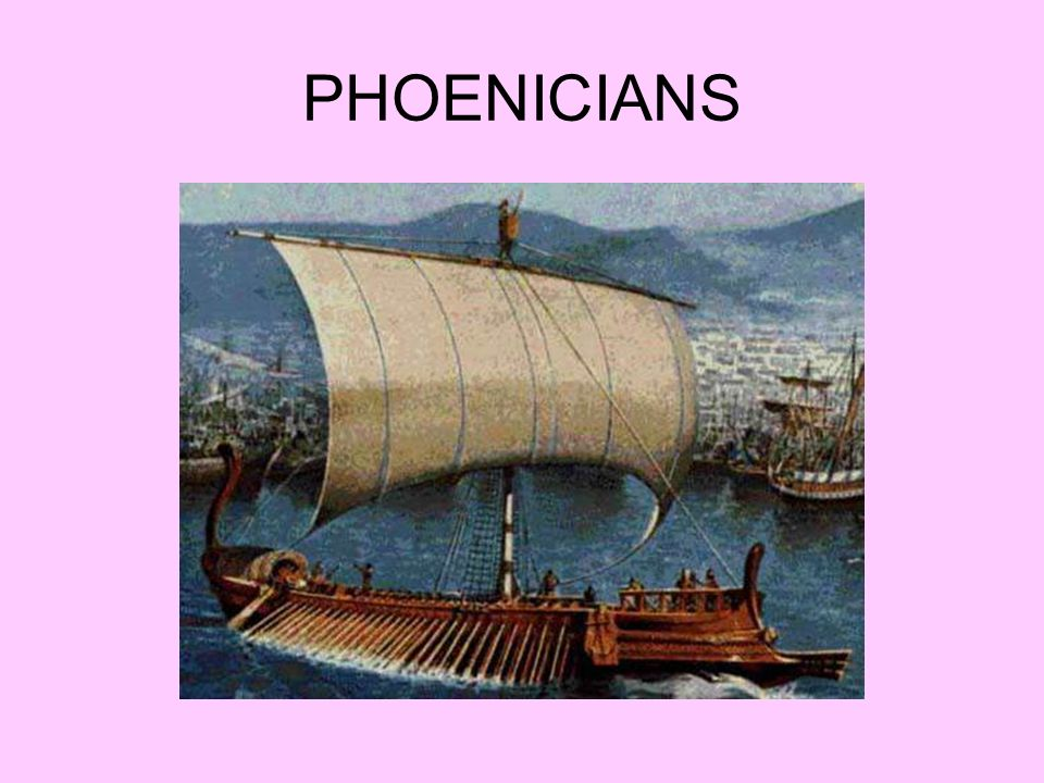 1200-800 BCE (Dominated trade) Present-day Lebanon Established the Phoenician Triangle Similar in many ways to Mesopotamia Carthage (monopoly/navy)