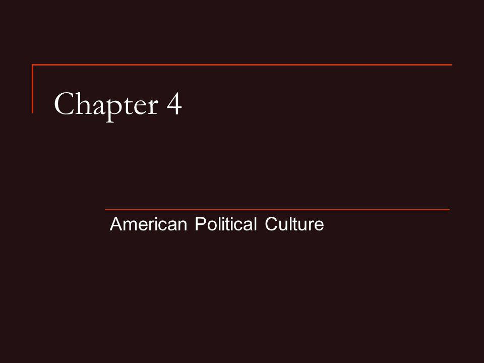 Chapter 4 American Political Culture