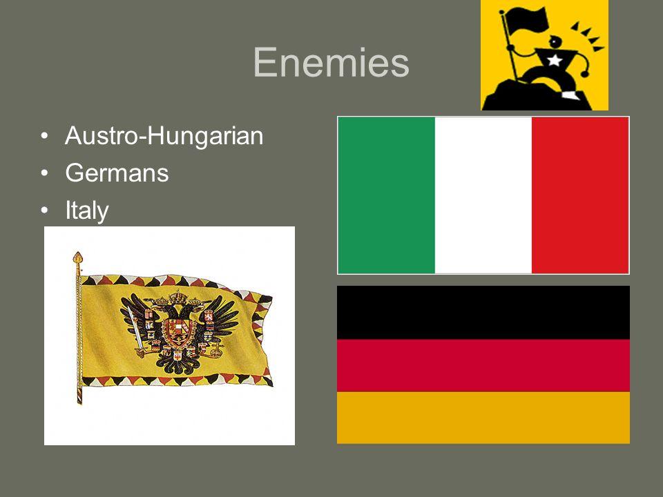 Enemies Austro-Hungarian Germans Italy
