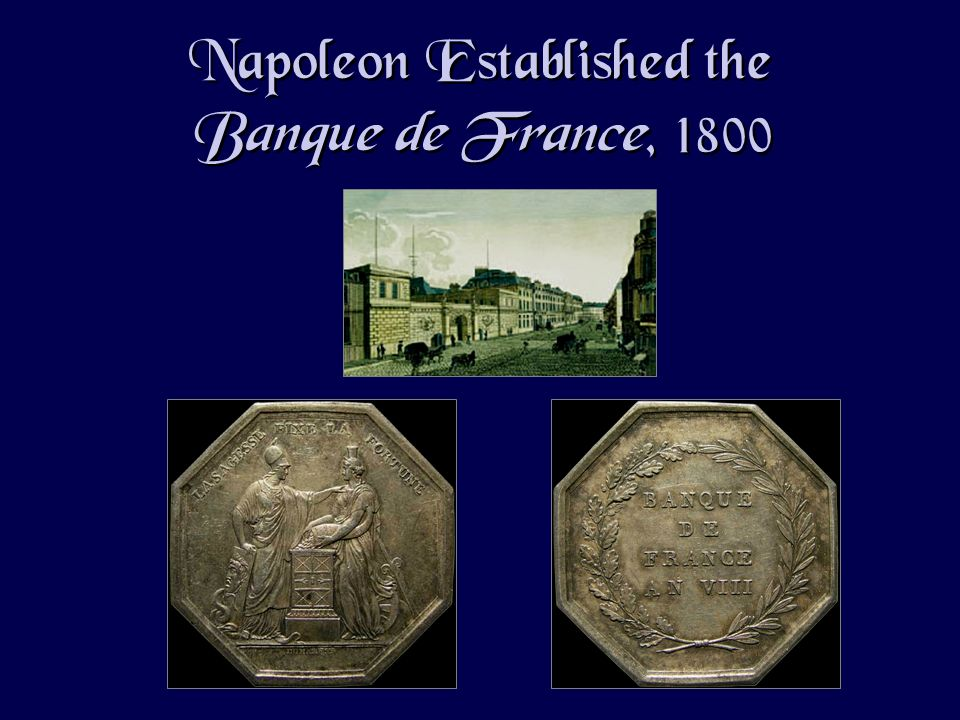 Napoleon Established the Banque de France, 1800
