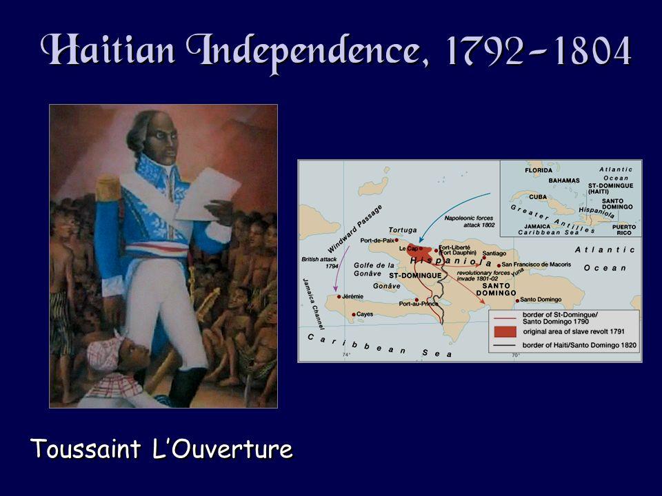 Haitian Independence, 1792-1804 Toussaint LOuverture