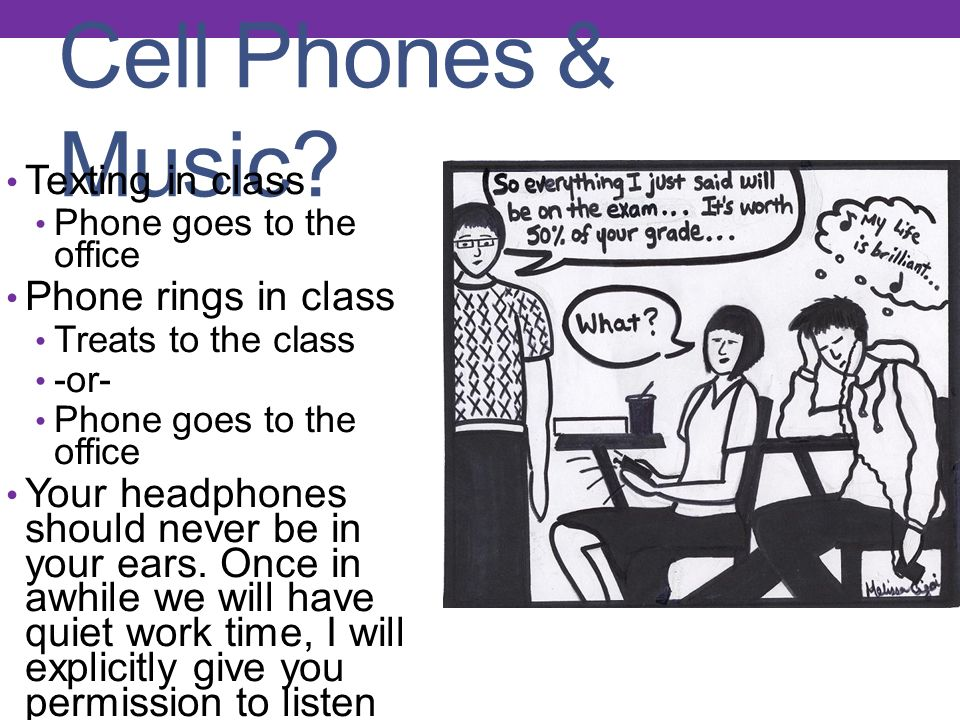 Cell Phones & Music.