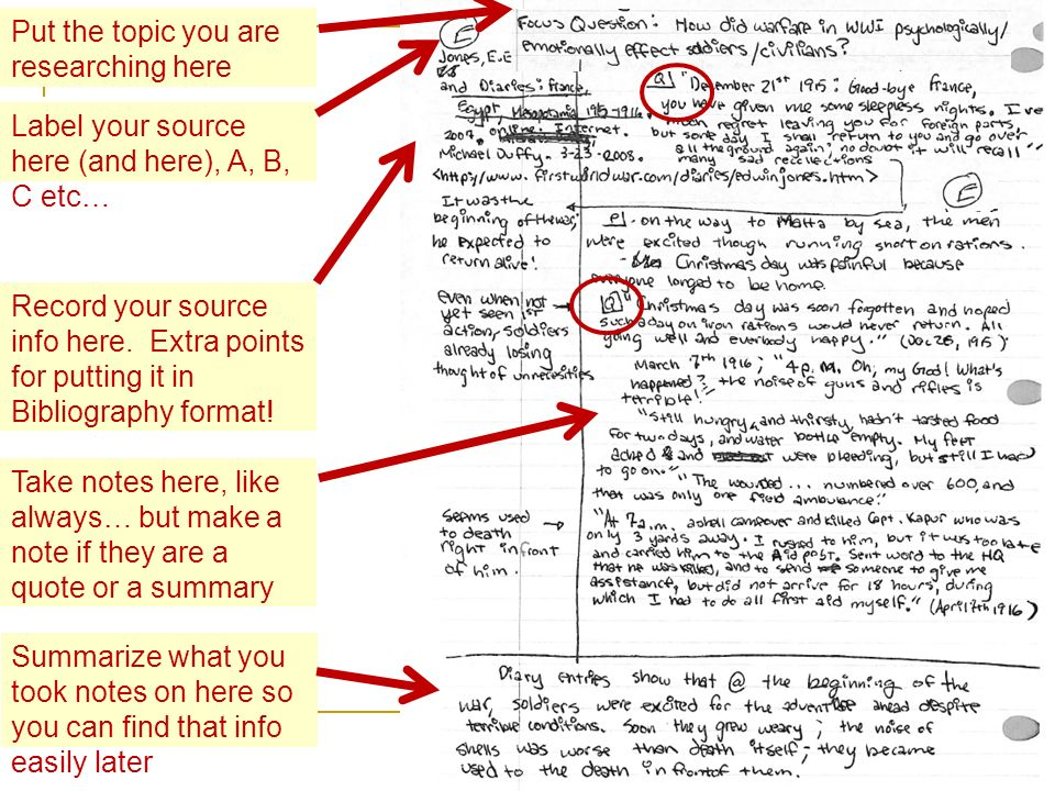 Put the topic you are researching here Record your source info here. Extra points for putting it in Bibliography format! Label your source here (and h