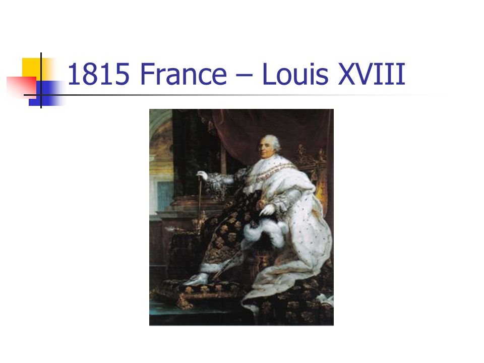 1815 France – Louis XVIII