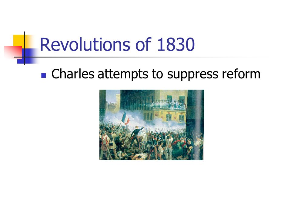 Revolutions of 1830 Charles attempts to suppress reform
