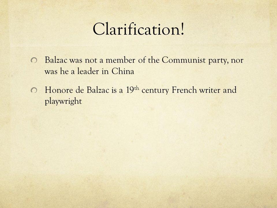 Clarification.
