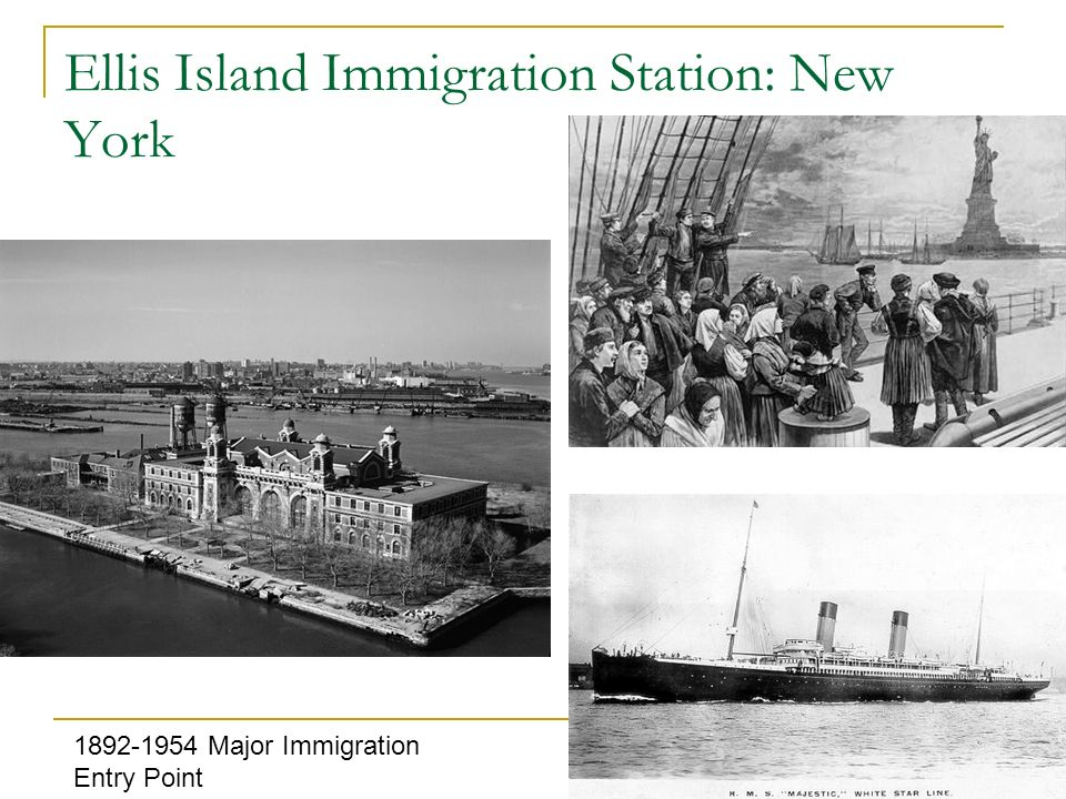 Ellis Island Medical Inspections: Six-second exam Legal Interviews 29 Questions: What is your name.