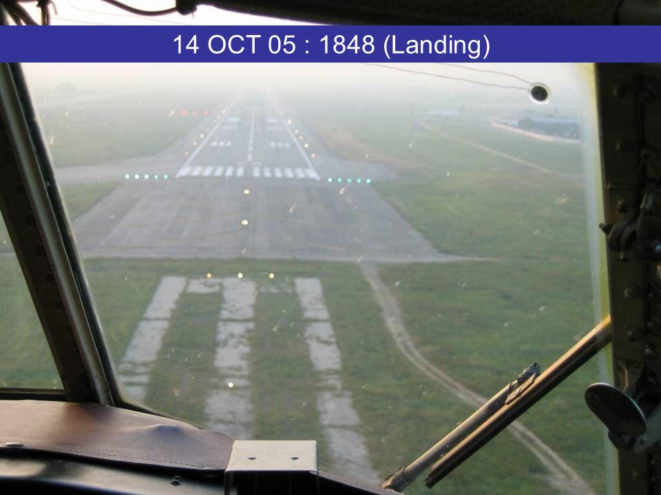 14 OCT 05 : 1848 (Landing)