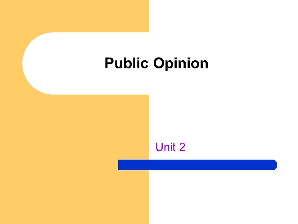 Public Opinion Unit 2