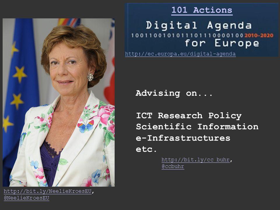 http://bit.ly/NeelieKroesEUhttp://bit.ly/NeelieKroesEU, @NeelieKroesEU http://ec.europa.eu/digital-agenda 101 Actions Advising on...