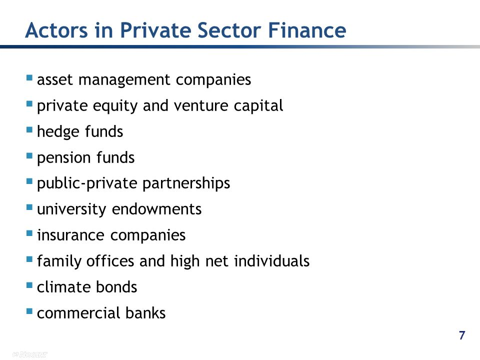 asset management companies private equity and venture capital hedge funds pension funds public-private partnerships university endowments insurance co