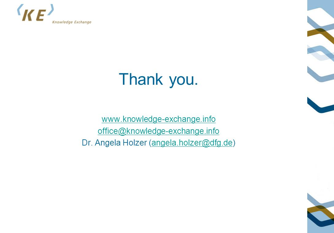 Thank you.www.knowledge-exchange.info office@knowledge-exchange.info Dr.