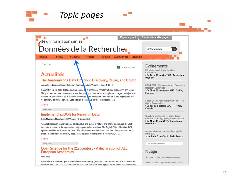 Topic pages 10