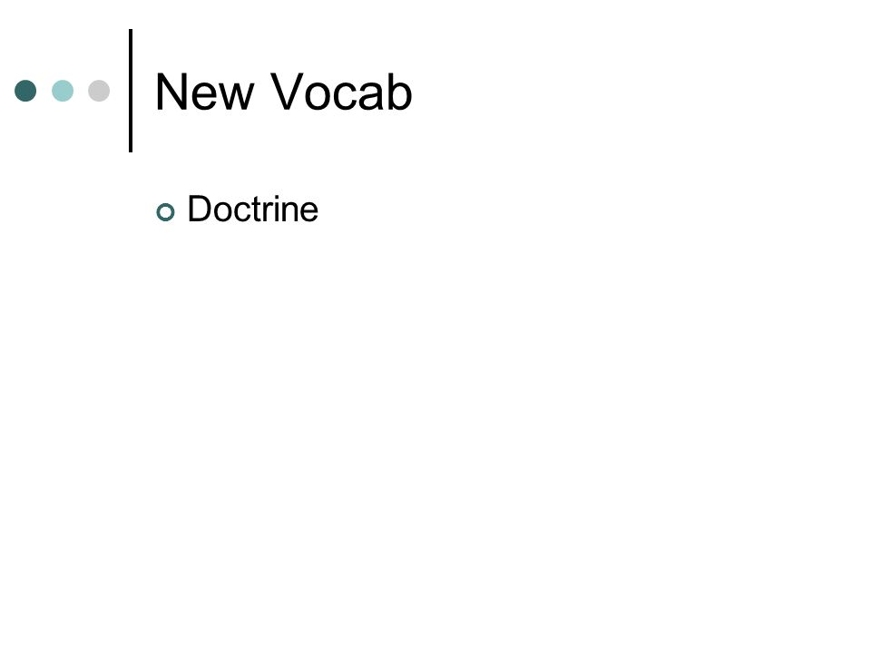 New Vocab Doctrine