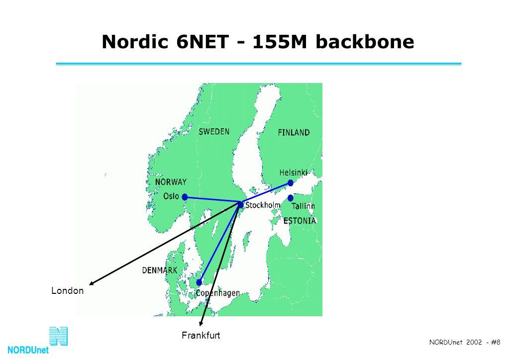 NORDUnet 2002 - #8 Nordic 6NET - 155M backbone London Frankfurt