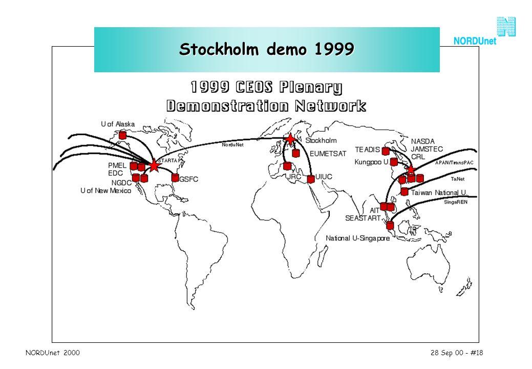 28 Sep 00 - #18NORDUnet 2000 Stockholm demo 1999