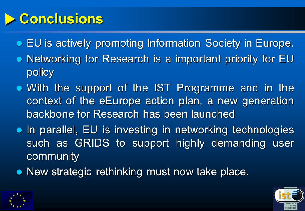 EU is actively promoting Information Society in Europe.