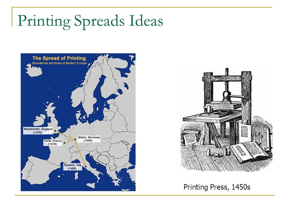 Printing Spreads Ideas Printing Press, 1450s