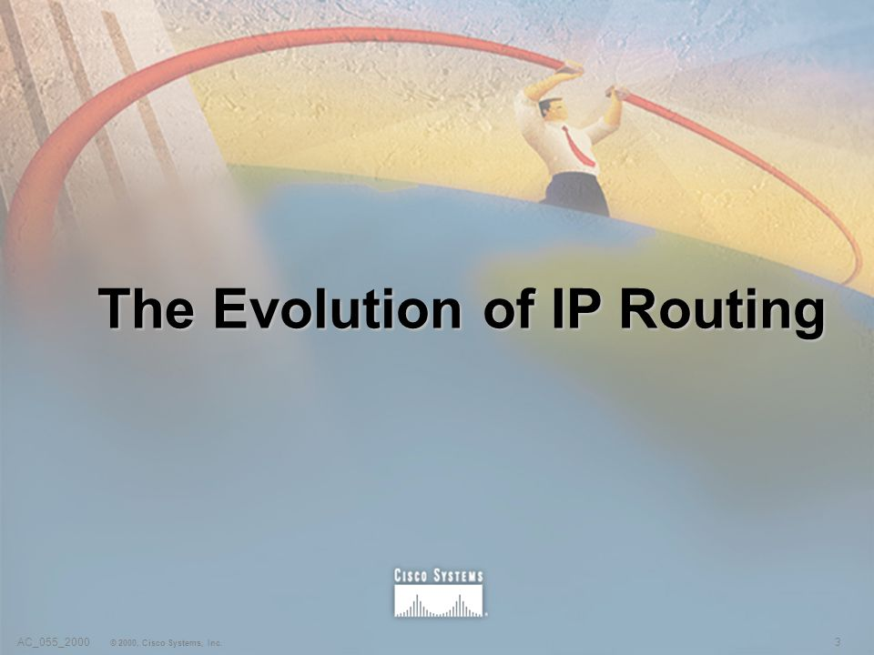 3AC_055_2000 © 2000, Cisco Systems, Inc. The Evolution of IP Routing