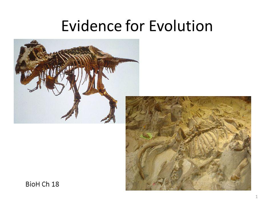 Evidence for Evolution BioH Ch 18 1