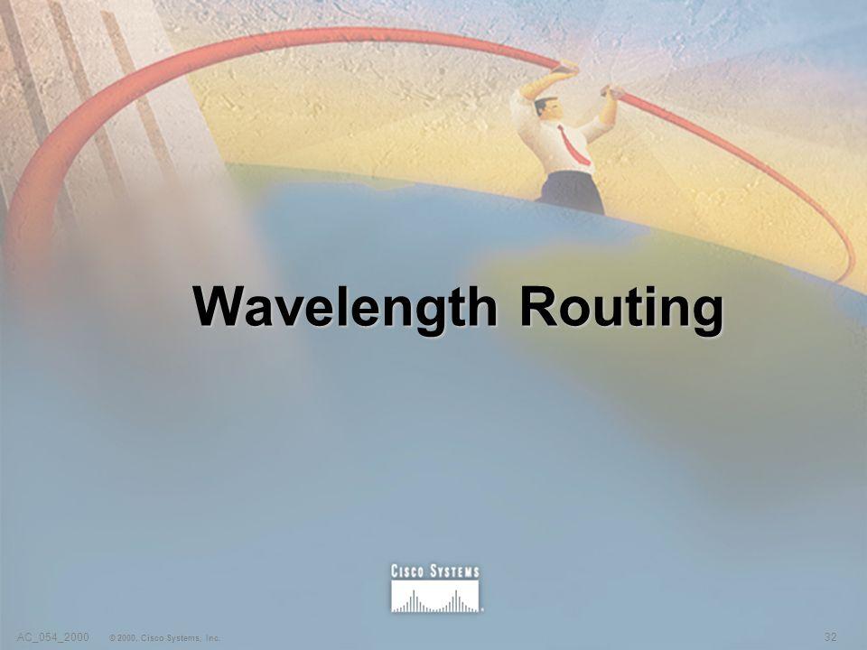 32AC_054_2000 © 2000, Cisco Systems, Inc. Wavelength Routing