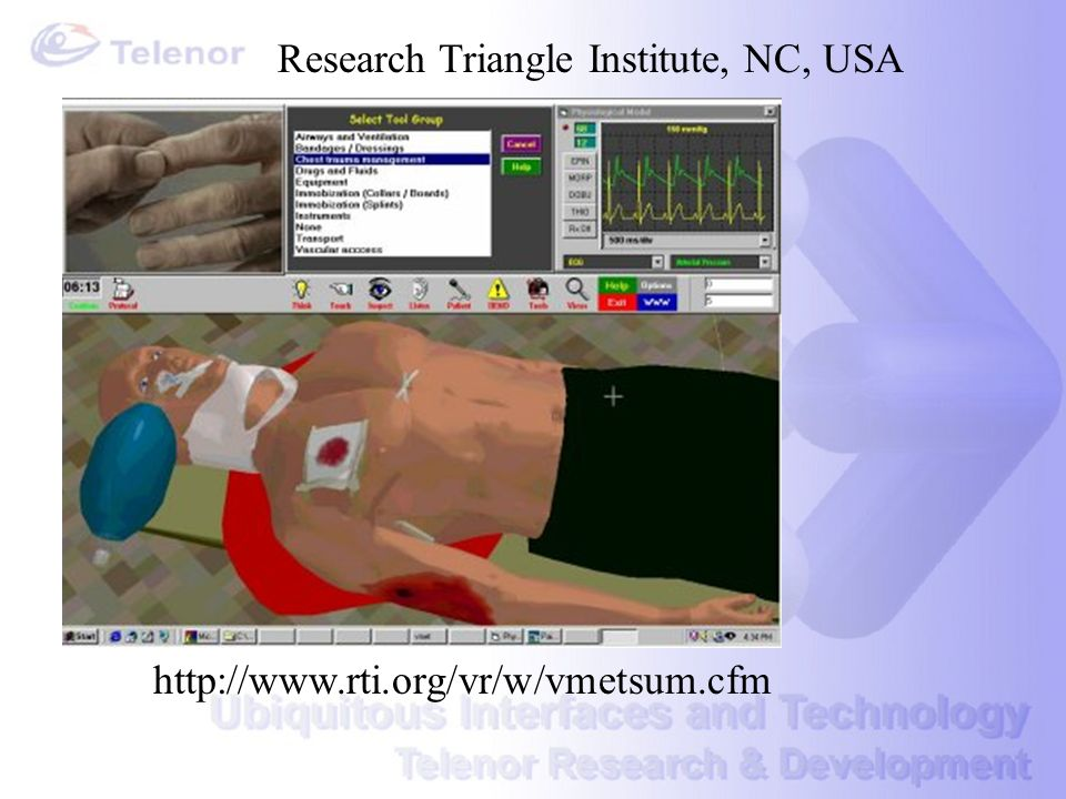 http://www.rti.org/vr/w/vmetsum.cfm Research Triangle Institute, NC, USA