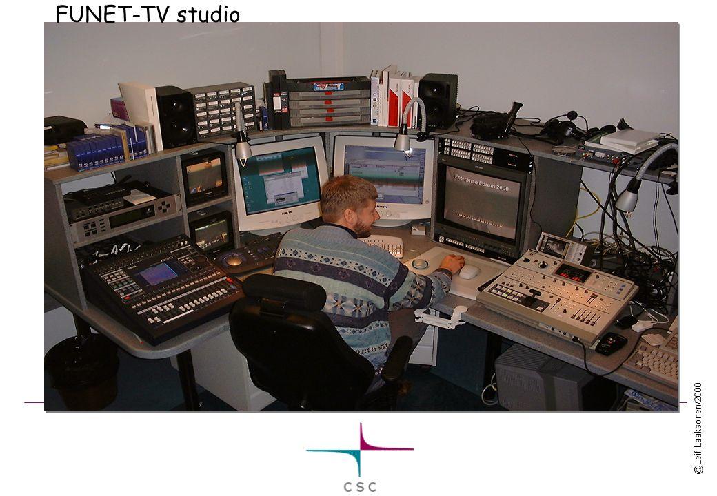@Leif Laaksonen/2000 FUNET-TV studio
