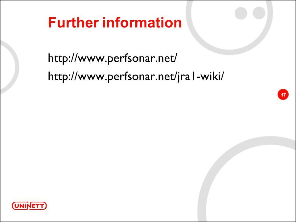 17 Further information http://www.perfsonar.net/ http://www.perfsonar.net/jra1-wiki/