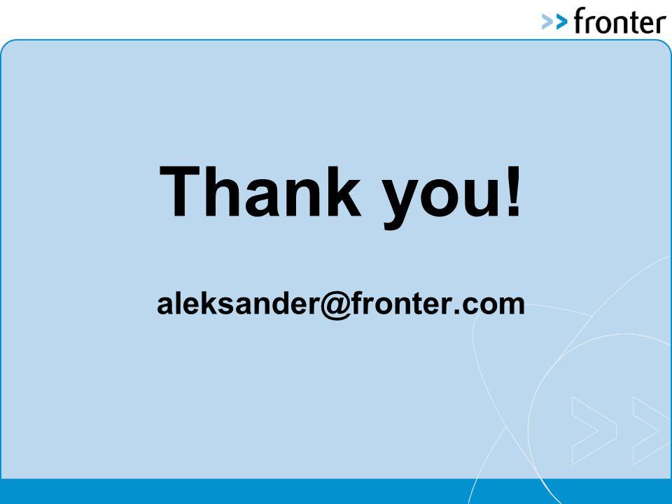 Thank you! aleksander@fronter.com