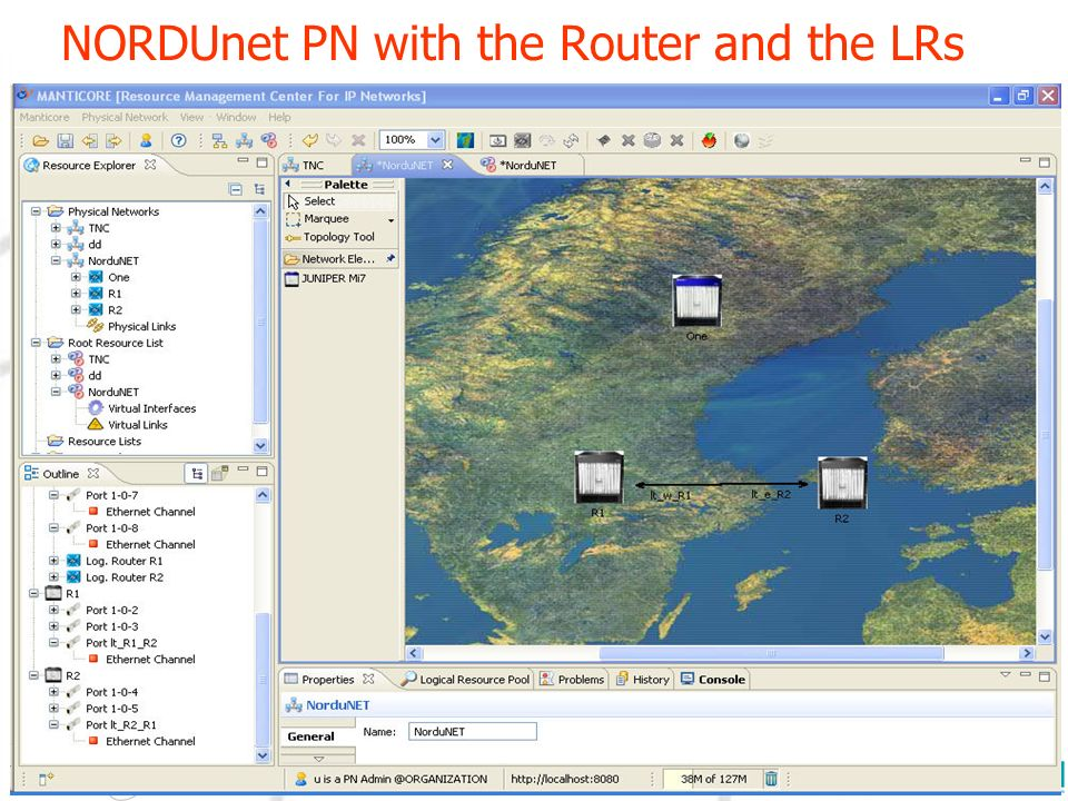 NORDUnet PN with the Router and the LRs 22