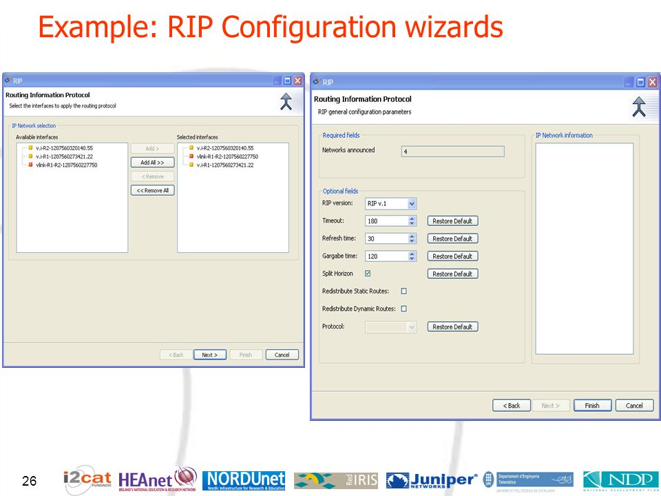 Example: RIP Configuration wizards 26